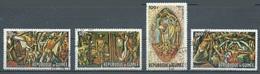 Guinée Poste Aérienne YT N°74/77 Peintures Murales Du Siège Des Nations Unies Oblitéré ° - Guinea (1958-...)