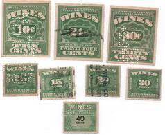 ETATS UNIS -Fiscaux -  WINES - 1914-1934-1941 -lot De 8 Timbres ( 3 De 1914, 4 De 1934, 1 De 1941 ) Bon état - Fiscale Zegels