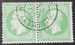 Napoléon III N° 20a Avec Oblitération Cachet à Date En Paire  Etat Bien - 1862 Napoléon III