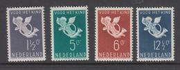 Netherlands 1936 - Michel 297-300 Mint Hinged * - Periodo 1891 – 1948 (Wilhelmina)