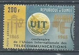 Guinée Poste Aérienne YT N°55 Union Internationale Des Télécommunications Oblitéré ° - Guinea (1958-...)