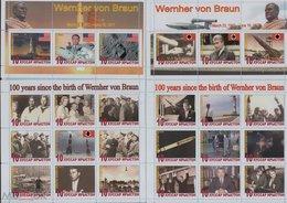 Fantazy Labels / Private Issue. Werner Von Braun - 100th Birth Anniversary. Rocket Science. Space. Astronautics 2012 - Fantasie Vignetten
