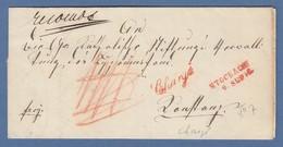 Vorphila Baden: Roter Zweizeiler STOCKACH 9. SEP. Auf Chargé-Brief , 1848 - Alemania