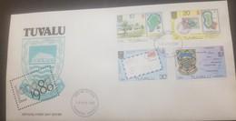 O - R) 1980 TUVALU, LONDON INTERNATIONAL STAMP EXHIBITION, PHILATELIC BUREAU - FUNAFUTI - TUVALU - ARMS LONDON - GILBERT - Tuvalu (fr. Elliceinseln)