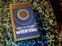 """Publicité Paquet De Cigarettes Vide """" Week-end """" Tabac De Virginie SEITA - Autres"""