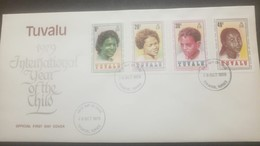 O - R ) 1979 TUVALU,HUMAN RACES - PHENOTYPES , CHILDREN - INTERNATIONA YEAR OF THE CHILD, FDC XF - Tuvalu