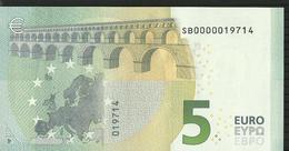 5 EURO ITALIE - ITALIA S001 J5 SB0000019714 UNC DRAGHI LOW SERIAL - EURO