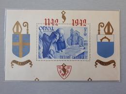Timbres Belges : Bloc N° 20 A 1942 ORVAL Sans Numéro Et  Dentelé NEUF ** & - Blocks & Sheetlets 1924-1960