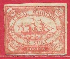 Egypte - Suez N°4 40c Rouge 1868 (authentique/genuine, Type C) (*) - Égypte