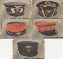 Turkey, TR-TT-N-0403 - 0407, Set Of 5 Cards, Railway Hats, 2 Scans, - Turkije