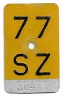 Velonummer Mofanummer Schwyz SZ 77 - Placas De Matriculación