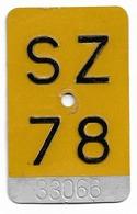 Velonummer Mofanummer Schwyz SZ 78 - Placas De Matriculación