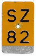 Velonummer Mofanummer Schwyz SZ 82 - Placas De Matriculación