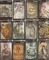 Turkey, TR-TT-N-0389 - 0400, Set Of 12 Cards, Mosaics Of Zeugma Historical City, 2 Scans,  NB ; Nr 400 Has A Bend - Turkije