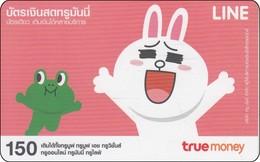 Thailand True Phonecard Asia Comic Line Figuren Cony - Stripverhalen