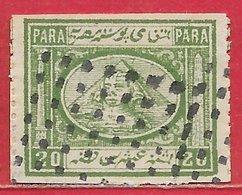 Egypte N°10 20p Vert (faux) 1867-69 O - 1866-1914 Ägypten Khediva