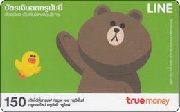Thailand True Phonecard Asia Comic Line Figuren Brown - Stripverhalen