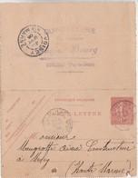 Carte-lettre Commerciale 1906 / Entier 129 CL1 / CUSSAC-BOURG / Quincaillerie / 63 Cunlhat (cachet) / Puy De Dôme - Other