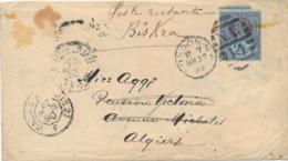 UK - 1890 - 2,5P Jubilee On Cover From London Via Mustapha To Biskra / Algiers - Alger - 1840-1901 (Victoria)