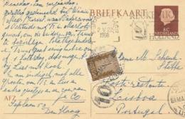 Portugal - 1958 - 1E Porteado / Postage Due - On Taxed Postcard From Den Haag / Nederland To Lisboa - Portomarken