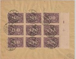 DR MNr. 219 Auf Brief U.a. Im Neunerblock Mit Platternummer Und Passerkreuz - Deutschland