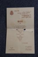Ville De ST GAUDENS , Menu Du 3 Août 1952, Sous La Présidence Du Ministre De L'Agriculture, Camille LAURENS. - Menükarten