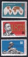 Cuba 1964 / Universal Postal Union, XV UPU Congress, Vienna, Von Stephan, Globe Map / MNH, Mi 893-895 - UPU (Union Postale Universelle)