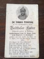 Sterbebild Wk1 Bidprentje Avis Décès Deathcard LIR12 Beu HOHROD Haut-Rhin Block 3 Grab 26 Aus Liedling - 1914-18