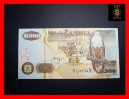 ZAMBIA 500 Kwacha  2001 P. 39 C   UNC - Zambia