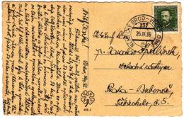 "CSSR Karte Mit Bahnpoststempel / Railway / TPO ""137 Nemecky Brod - Velsky Osek""13"" - Czechoslovakia"