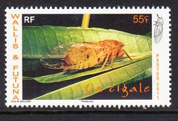 2011 Wallis & Futuna Cicada Insects  Complete Set Of 1 MNH - Wallis Und Futuna