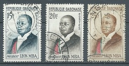 Gabon YT N°159/159B Président Léon Mba Oblitéré ° - Gabun (1960-...)