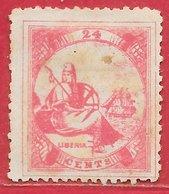 Libéria N°14 24c Rose 1880 (*) - Liberia
