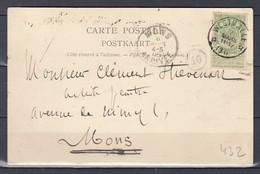 Postkaart Van Westmalle (sterstempel) Naar Mons - Postmarks With Stars