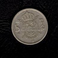 LOT091 - Spain 5 Pesetas Coin 1957 78 España Juan Carlos I - 5 Pesetas