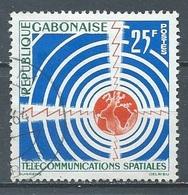 Gabon YT N°166 Télécommunications Spatiales Oblitéré ° - Gabun (1960-...)