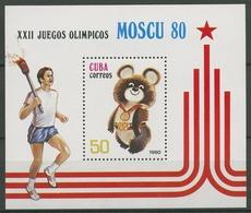 Kuba 1980 Olympia Moskau Maskottchen Mischa Block 61 Postfrisch (C94707) - Blocs-feuillets