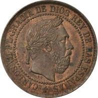 Monnaie, Espagne, Charles VII, 5 Centimos, 1875, SUP, Cuivre, KM:669 - [1] …-1931: Königreich