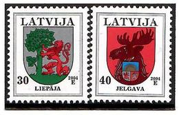 Latvia 2004 . COA 2004 (Liepaja, Jelgava). 2v: 30, 40 . Michel # 486CII,498CII - Lettonie