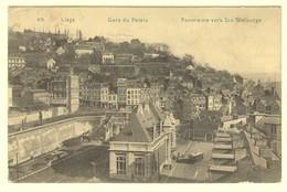 A1940[Postkaart] Liége / Gare Du Palais / Panorama Vers Ste Walburge [station Tram Vue Panoramique Sainte Sur Luik] - Liege