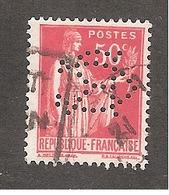 Perforé/perfin/lochung France No 283 CR La Marquise De Sevigné Chocolat De Royat - France