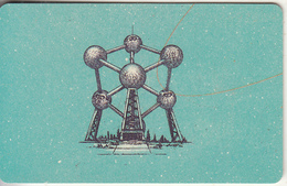 GERMANY(chip) - Here We Are/Belgium-Atomium(A 52 G), CN : 1209, Tirage %49000, 12/91, Used - Germania