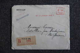 Lettre Recommandée De PARIS ( SENAT) Vers SEDEILLAC (31) Le 10 Octobre 1945 - France