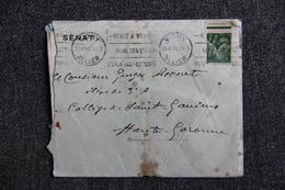 Lettre De VICHY (  Entête Du SENAT) Vers St GAUDENS (31) Le 23 Novembre 1940 - Lettres & Documents