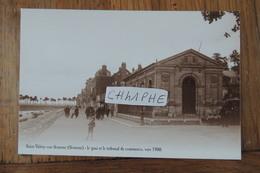 REPRODUCTION - SAINT VALERY SUR SOMME - QUAI  ET TRIBUNAL DE COMMERCE - ANIMATION - Saint Valery Sur Somme