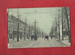 CPA Rétrécit - Lille - Le Boulevard Bigo Danel Et La Place De Tourcoing - Lille