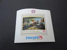 K31892  -  Bloc MNH  Romania 1976 - Bicentenary Revolution - Interphil 76 - Unabhängigkeit USA