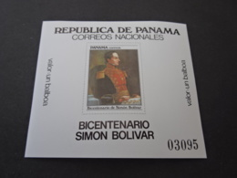 K31913 - Bloc MNH Panama 1983 - Bicentenario De Simon Bolivar - Panama