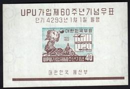 South Korea 1960 / 60th Ann. Of Admission Of Korea To Universal Postal Union, UPU, Train, Ship, Airplane / MNH, Mi 142 - UPU (Union Postale Universelle)