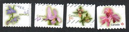 Sc. # 2361-64 Flower Definiitive Coils Domestic Thru International Rates Rounded Perfs 2010 Used K632 - 1952-.... Règne D'Elizabeth II
